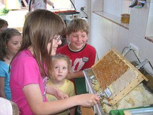 Kinder der Grundschule Irsch in unserer Imkerei