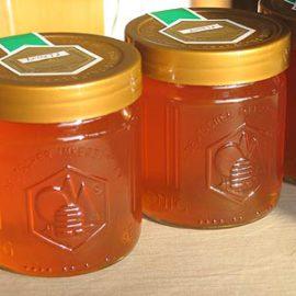 Flüssiger und fester Honig