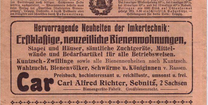 Die Bienenzeitung vom November 1916
